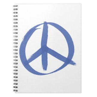 Signo de la paz azul cuaderno