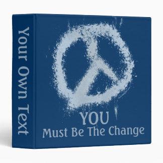 """Signo de la paz azul del Grunge Carpeta 1 1/2"""""""