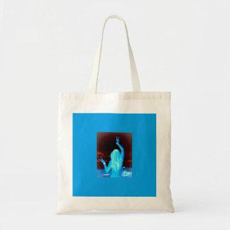 signo de la paz azul del hippie bolsa tela barata