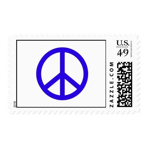 Signo de la paz azul franqueo