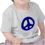Signo de la paz azul grande camisetas