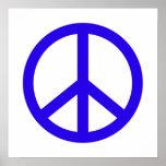 Signo de la paz azul impresiones