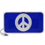 Signo de la paz azul iPhone altavoces