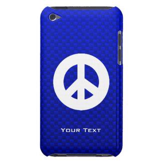 Signo de la paz azul iPod Case-Mate cobertura