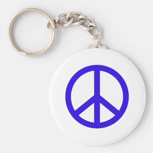 Signo de la paz azul llaveros