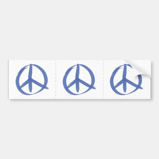 Signo de la paz azul pegatina de parachoque
