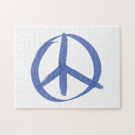Signo de la paz azul rompecabezas