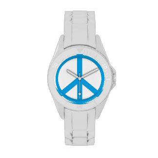 Signo de la paz azul sueco relojes