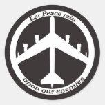 Signo de la paz B-52 Etiquetas Redondas