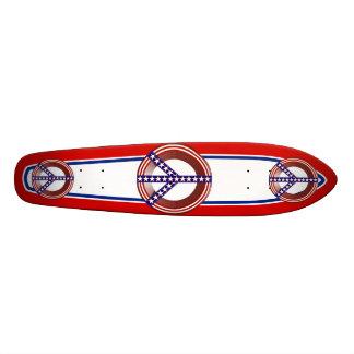 Signo de la paz blanco y azul rojo tablas de skate