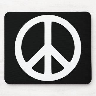 Signo de la paz blanco y negro alfombrilla de ratón