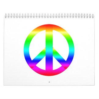 Signo de la paz calendario de pared