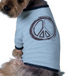 Signo de la paz camiseta de mascota