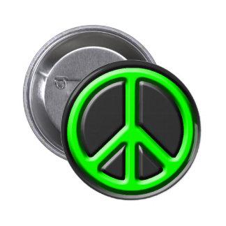 Signo de la paz clásico pin redondo 5 cm