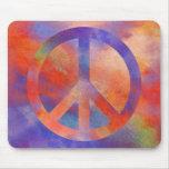 Signo de la paz colorido alfombrilla de ratones