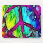 Signo de la paz colorido alfombrillas de ratón