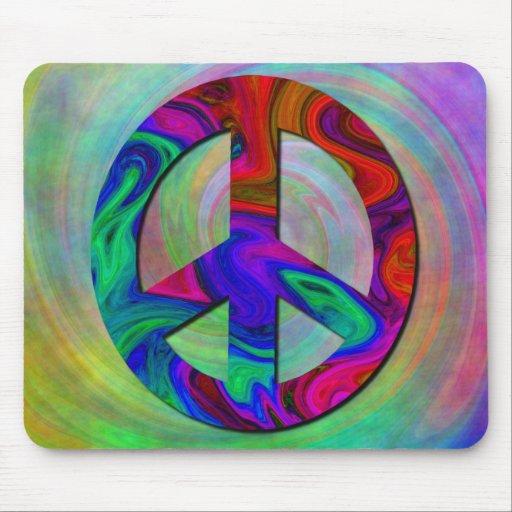 Signo de la paz colorido Mousepad Alfombrillas De Ratones