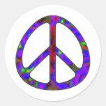 signo de la paz colorido pegatinas redondas