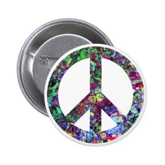 Signo de la paz colorido pin