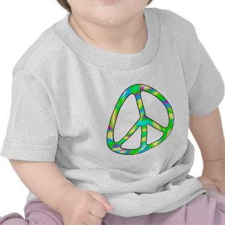 signo de la paz colorido camiseta