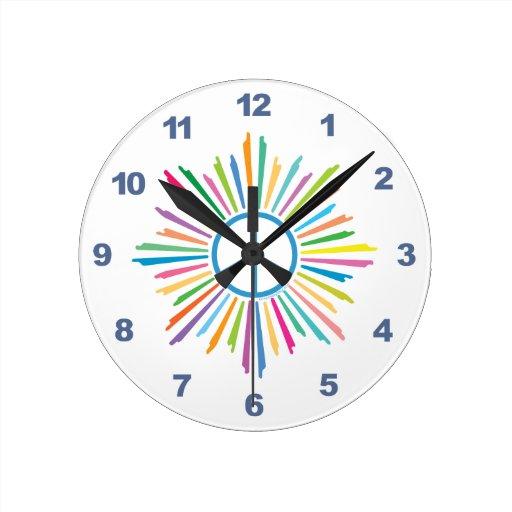 Signo de la paz colorido relojes de pared