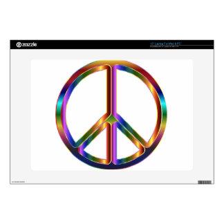Signo de la paz colorido skins para 38,1cm portátiles