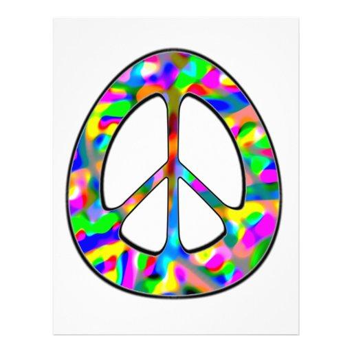 signo de la paz colorido tarjetas publicitarias