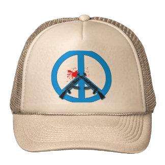 Signo de la paz con AK-47s y la sangre Gorro