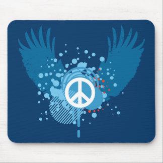 Signo de la paz con alas tapetes de raton