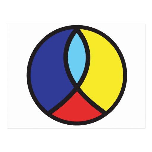 Signo de la paz cristiano postal