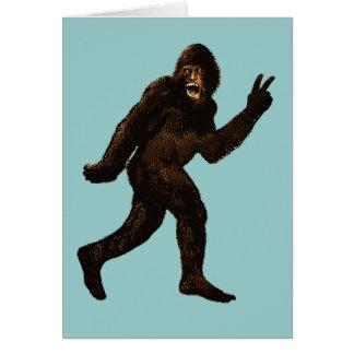 Signo de la paz de Bigfoot Tarjeta De Felicitación