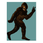Signo de la paz de Bigfoot Tarjeta Postal