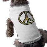 Signo de la paz de Camo Camisas De Mascota