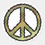 Signo de la paz de Camo Pegatinas Redondas