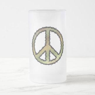 Signo de la paz de Camo Tazas De Café