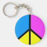 Signo de la paz de CMYK Llavero Redondo Tipo Pin
