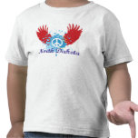 Signo de la paz de Dakota del Norte Camisetas