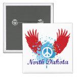Signo de la paz de Dakota del Norte Pins