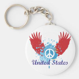 Signo de la paz de Estados Unidos Llaveros