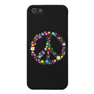 Signo de la paz de flores iPhone 5 cárcasas