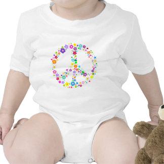 Signo de la paz de flores trajes de bebé