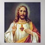 Signo de la paz de Jesús Posters