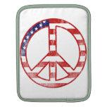 Signo de la paz de la bandera americana