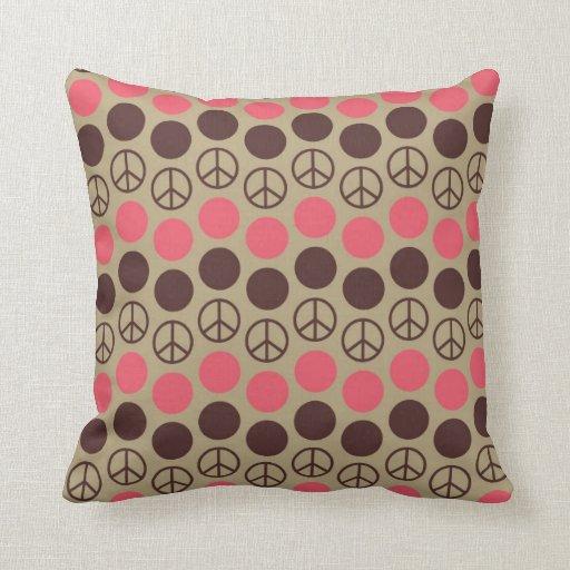 Signo de la paz de la diversión almohada