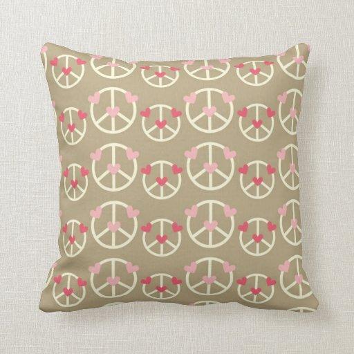 Signo de la paz de la diversión cojin