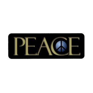 Signo de la paz de la etiqueta de dirección,