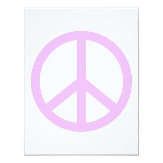 """Signo de la paz de la lavanda invitación 4.25"""" x 5.5"""""""