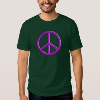 Signo de la paz de la lavanda poleras