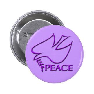 Signo de la paz de la paloma de la paz pin redondo 5 cm