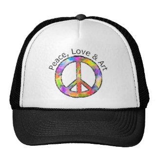 Signo de la paz de la paz, del amor y del arte gorra